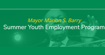 Mayor Marion S. Barry Summer Youth Employment Program